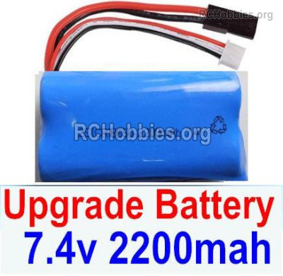 Subotech BG1525 Upgrade Battery Packs Parts, 2S 7.4V 2200mah Lipo Battery. Total 1pcs. DZDC01. Run More time and more power.